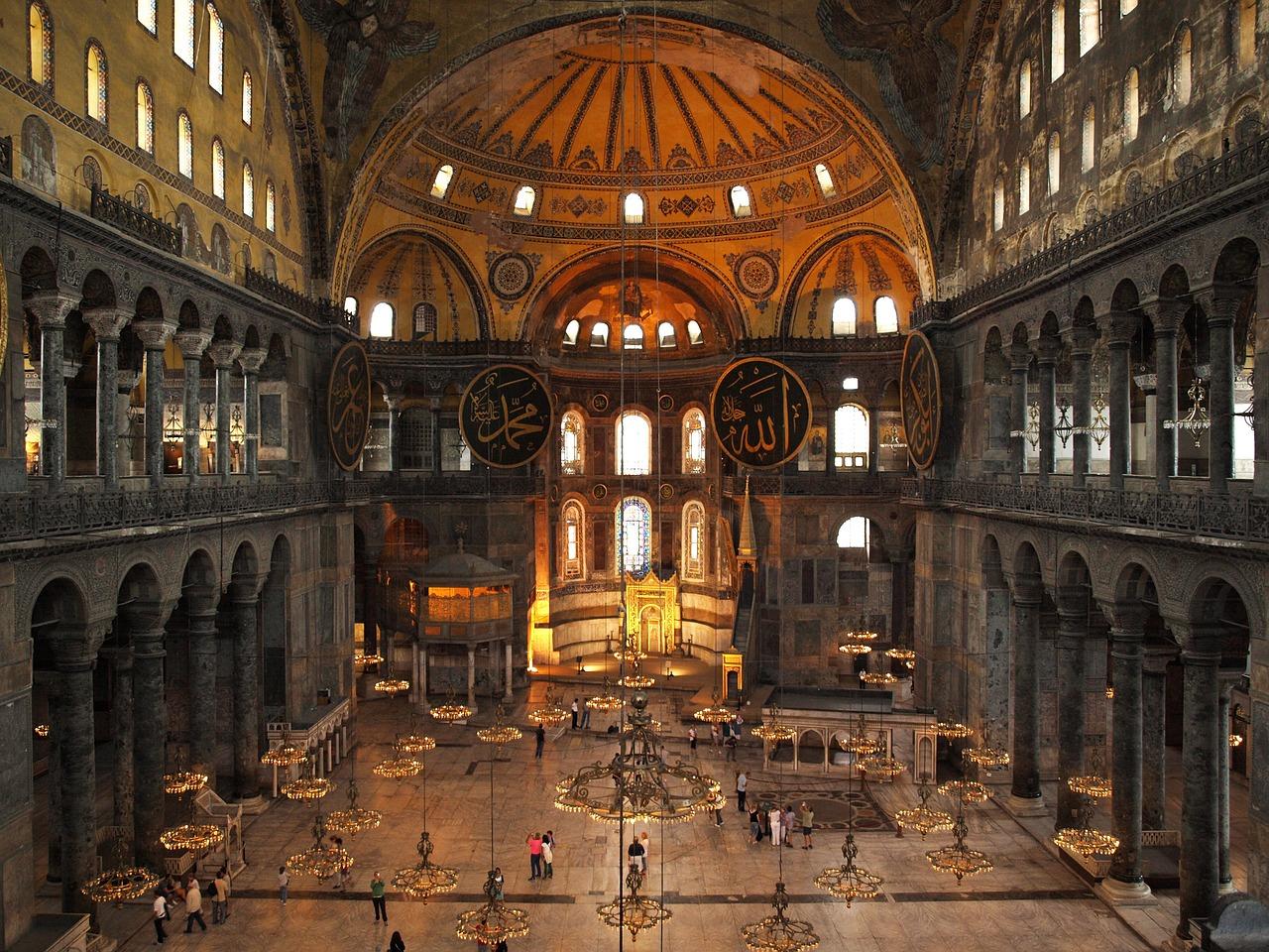 interior da Hagia Sophia