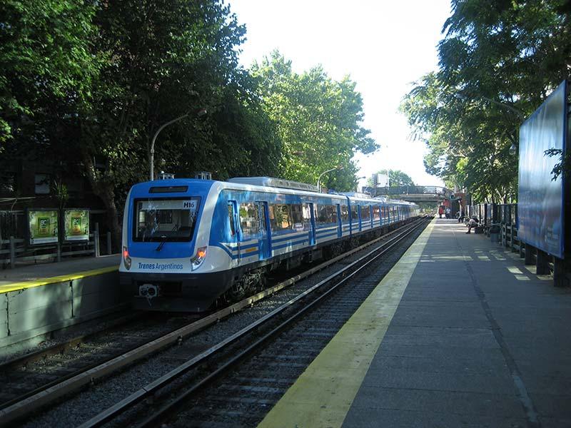 Trem urbano em Buenos Aires