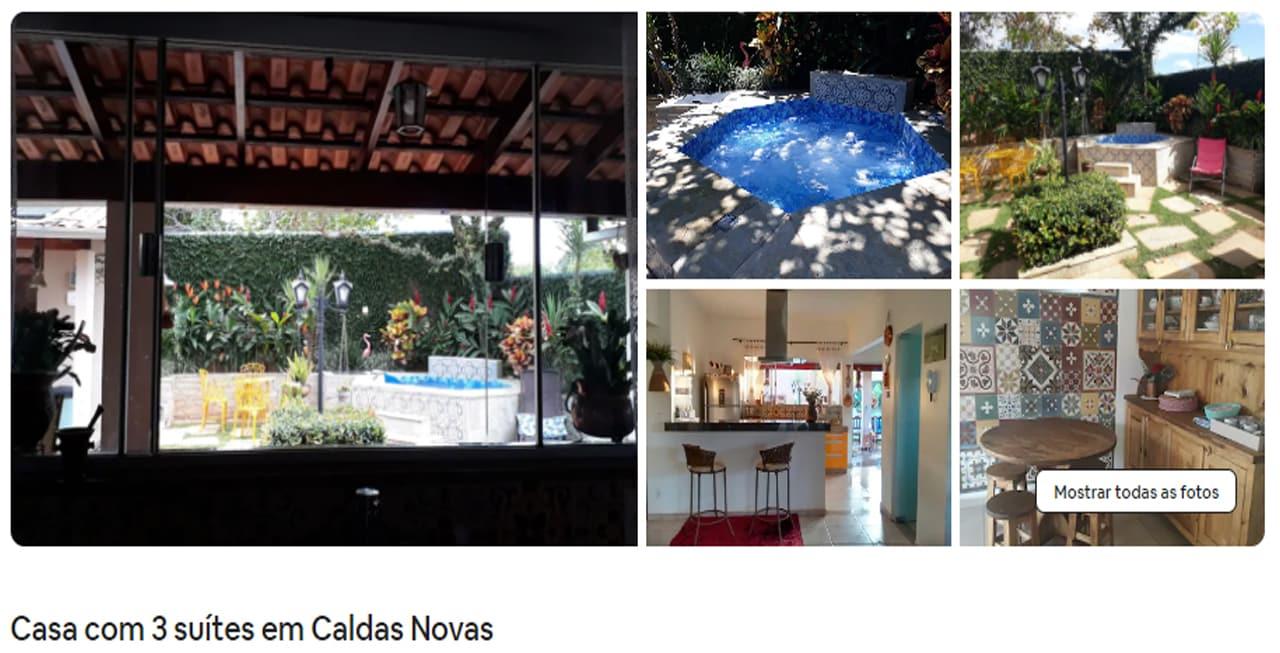 Airbnb Caldas Novas boulevard