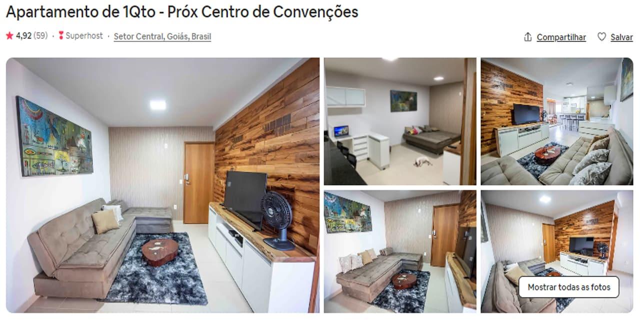 Airbnb Goiânia bosque dos buritis