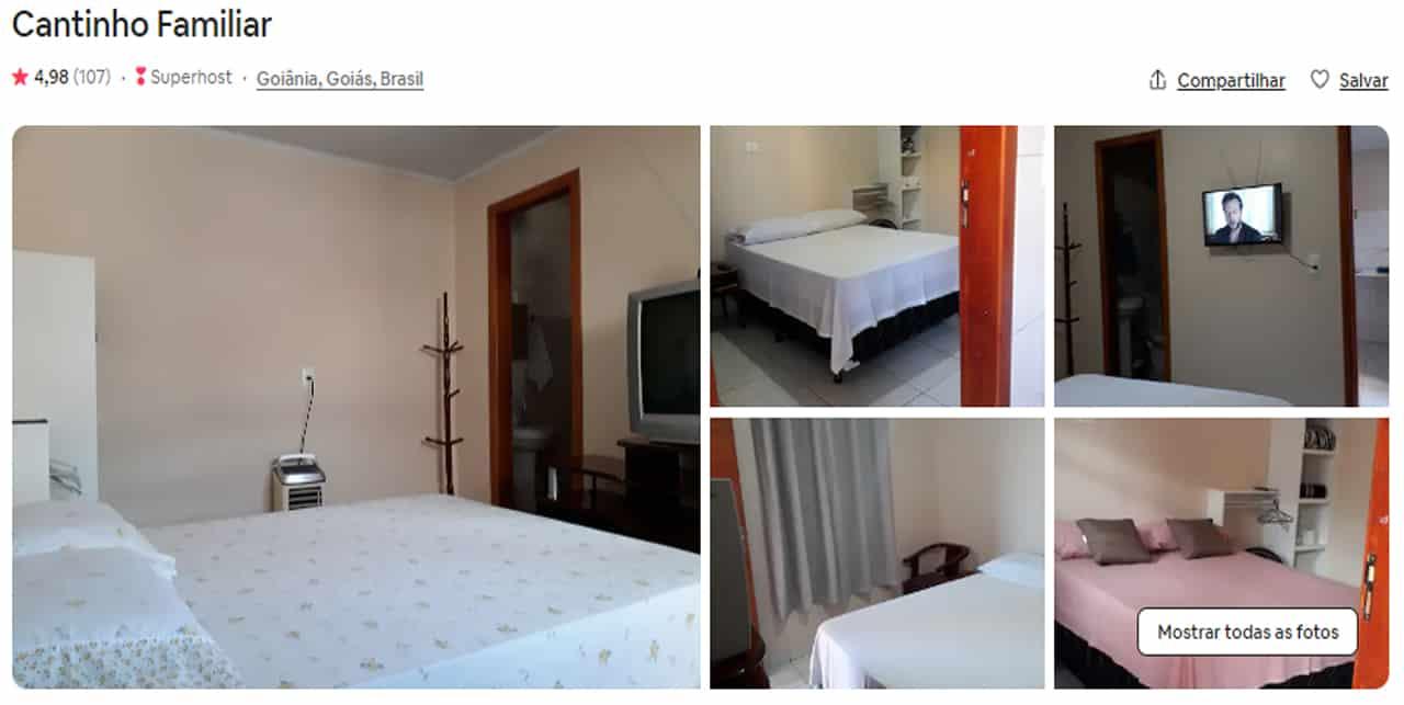 Airbnb Goiânia para casal