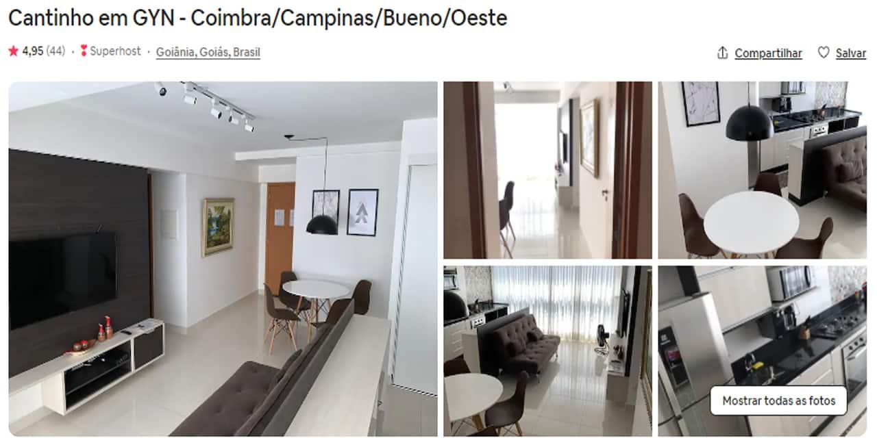 Airbnb Goiânia setor aeroporto
