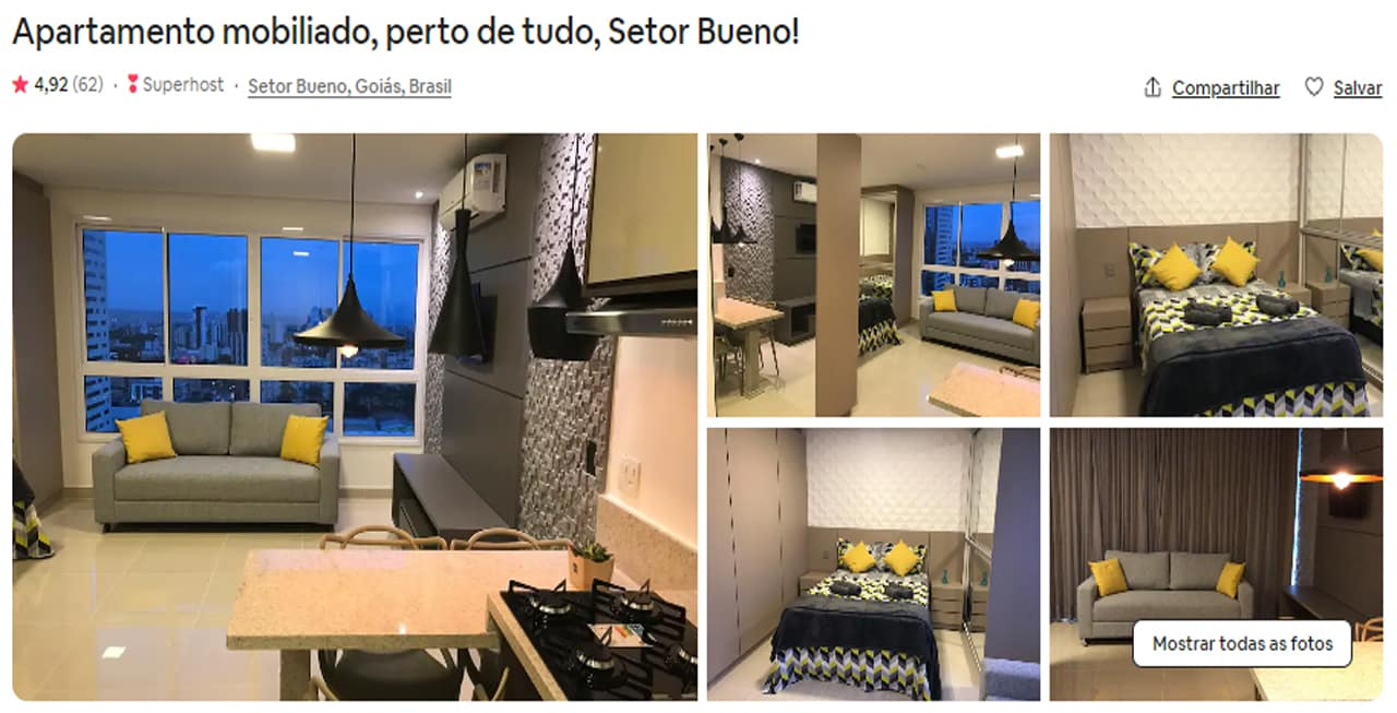 Airbnb Goiânia setor bueno