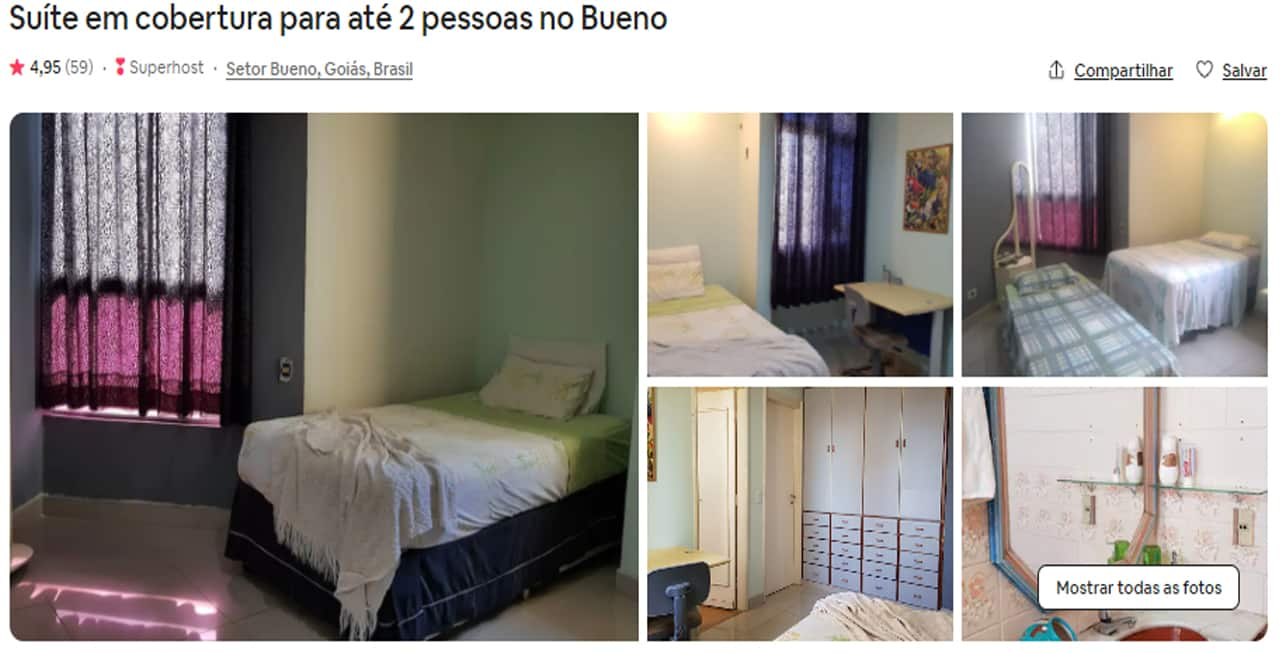 Airbnb Goiânia bem localizados