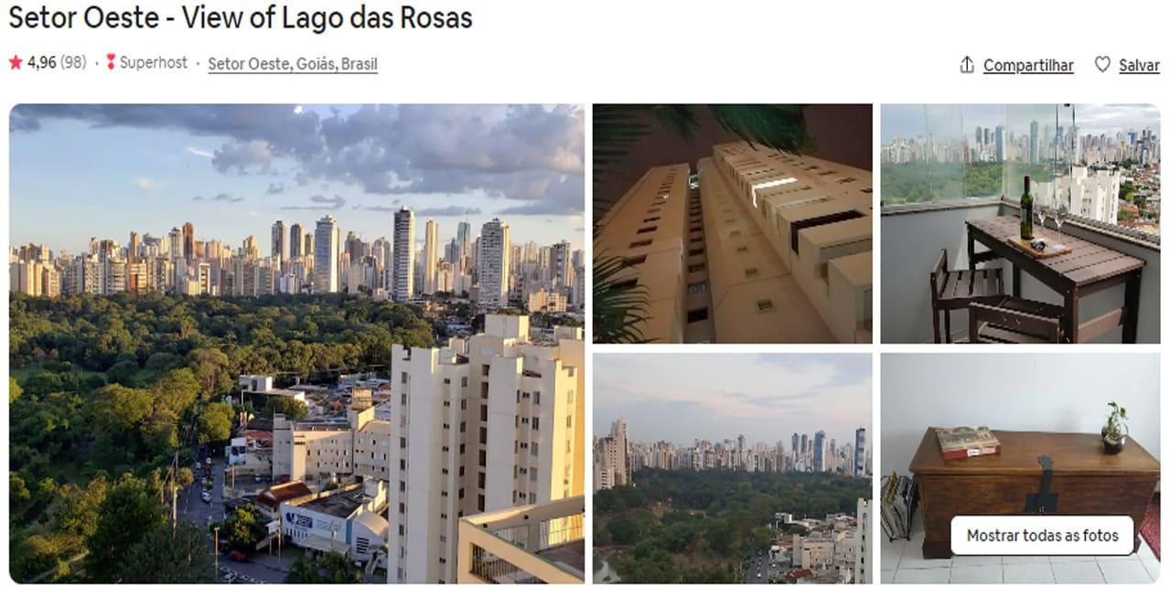 Airbnb Goiânia perto do parque lago das rosas
