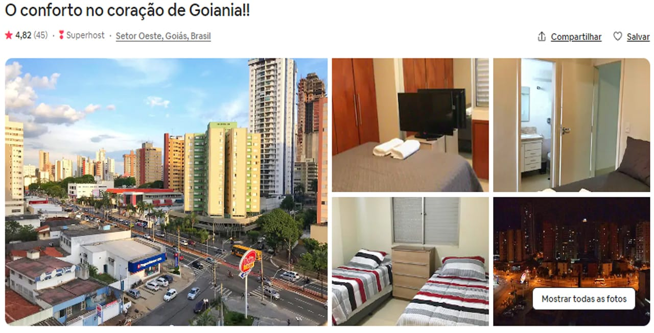 Airbnb Goiânia setor oeste