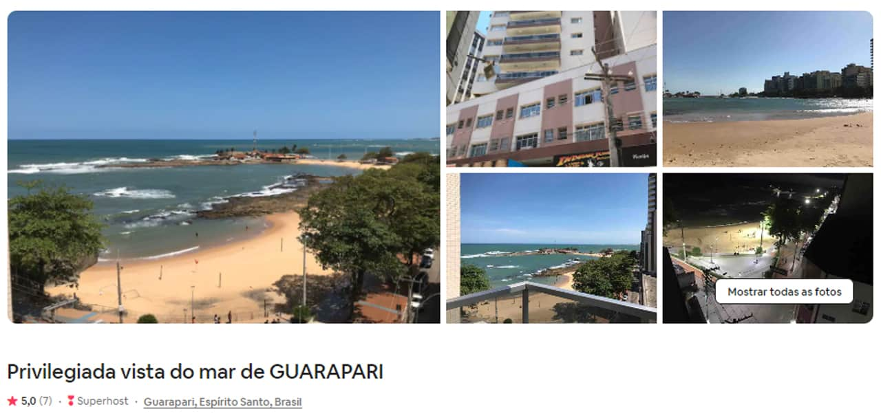 opções de Airbnb Guarapari