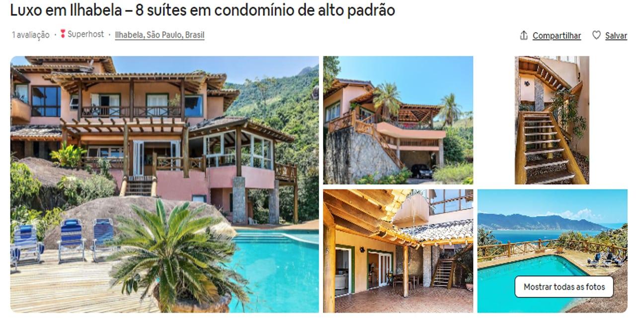 Airbnb Ilhabela luxo