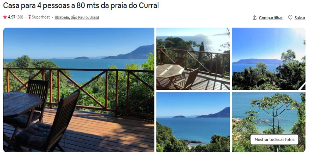 Airbnb Ilhabela praia do curral