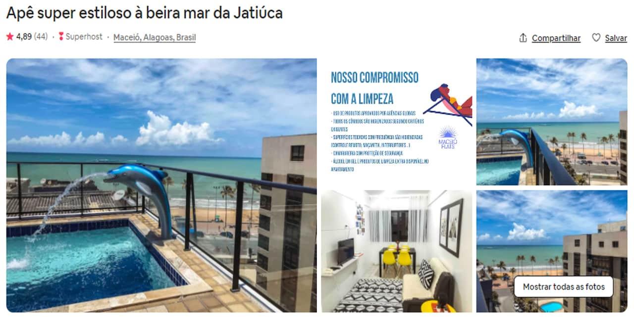 Airbnb Maceió com piscina