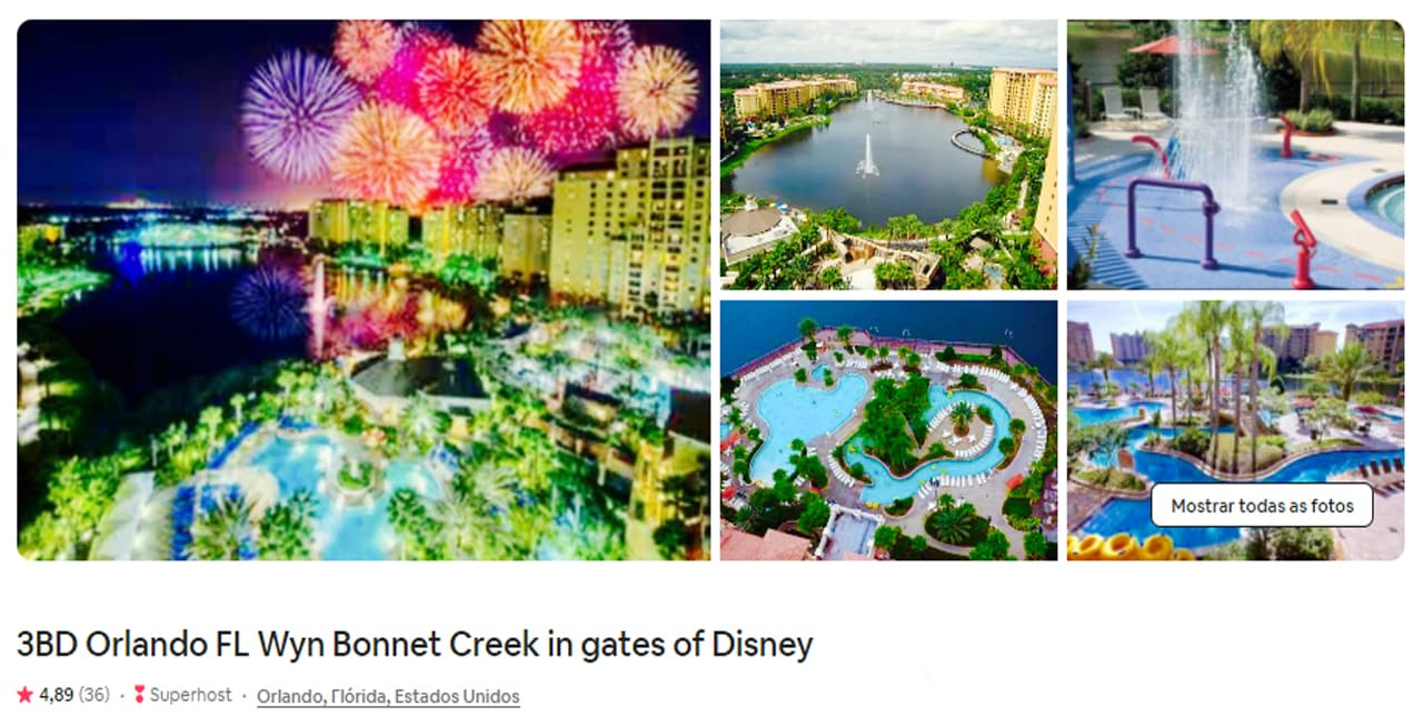 hospedagem dentro dos portões do Walt Disney World