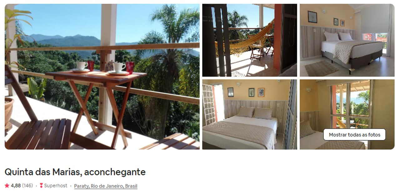 Airbnb Paraty quarto