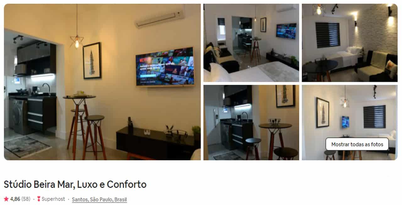 como escolher o Airbnb Santos