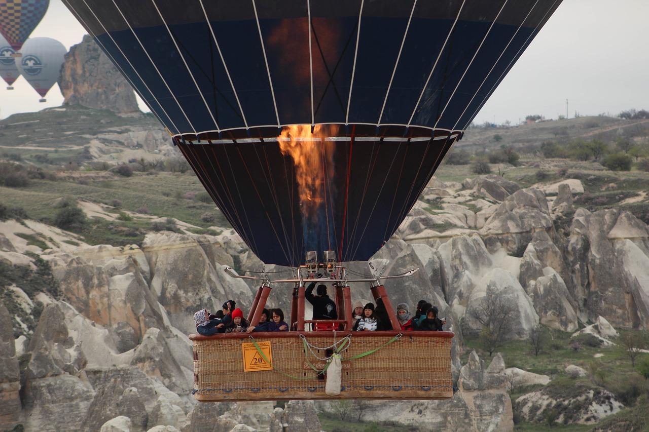 voo de balão na turquia