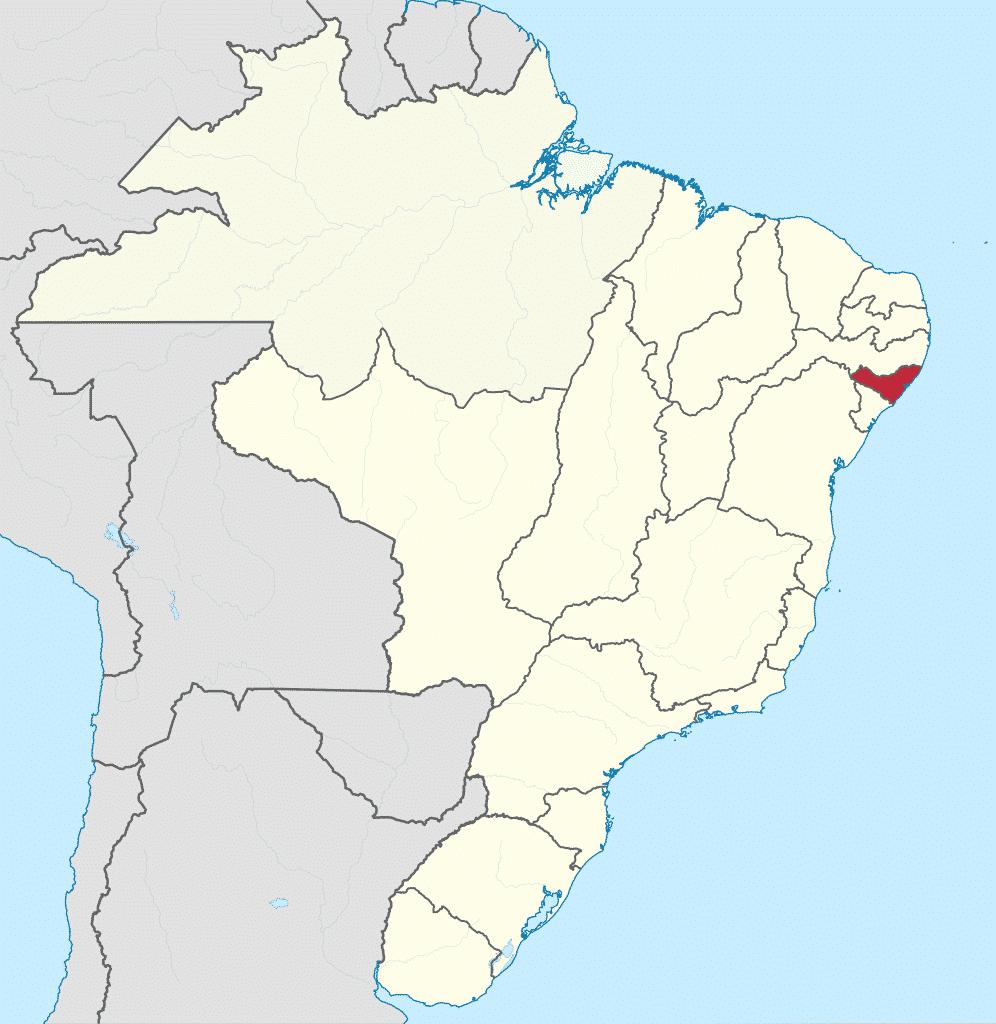 Mapa de alagoas