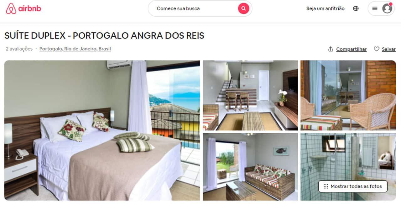 Mapa do Airbnb em Angra dos Reis