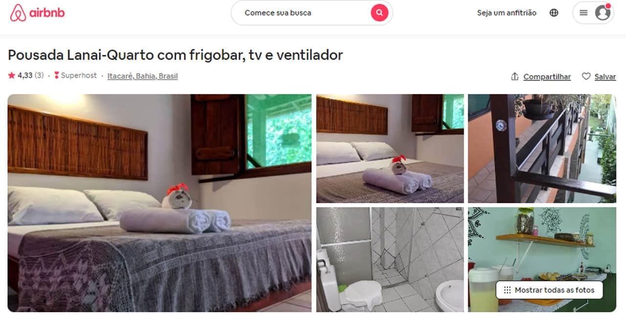 melhores airbnb em itacaré