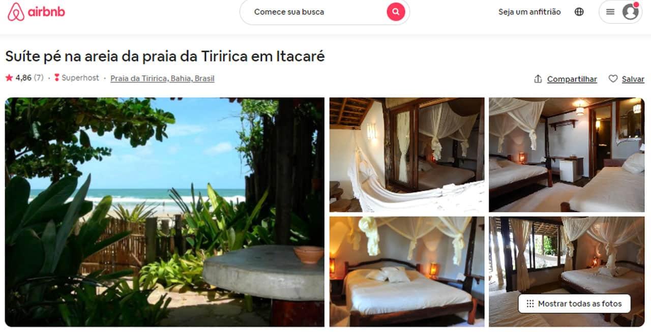 airbnb itacaré pousada