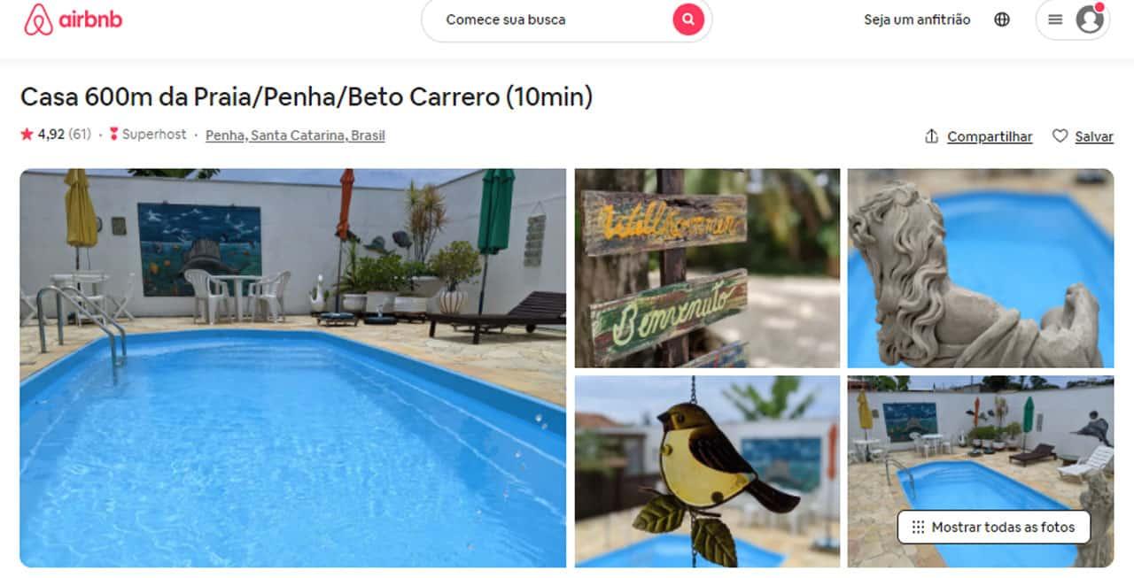airbnb praia alegre penha sc