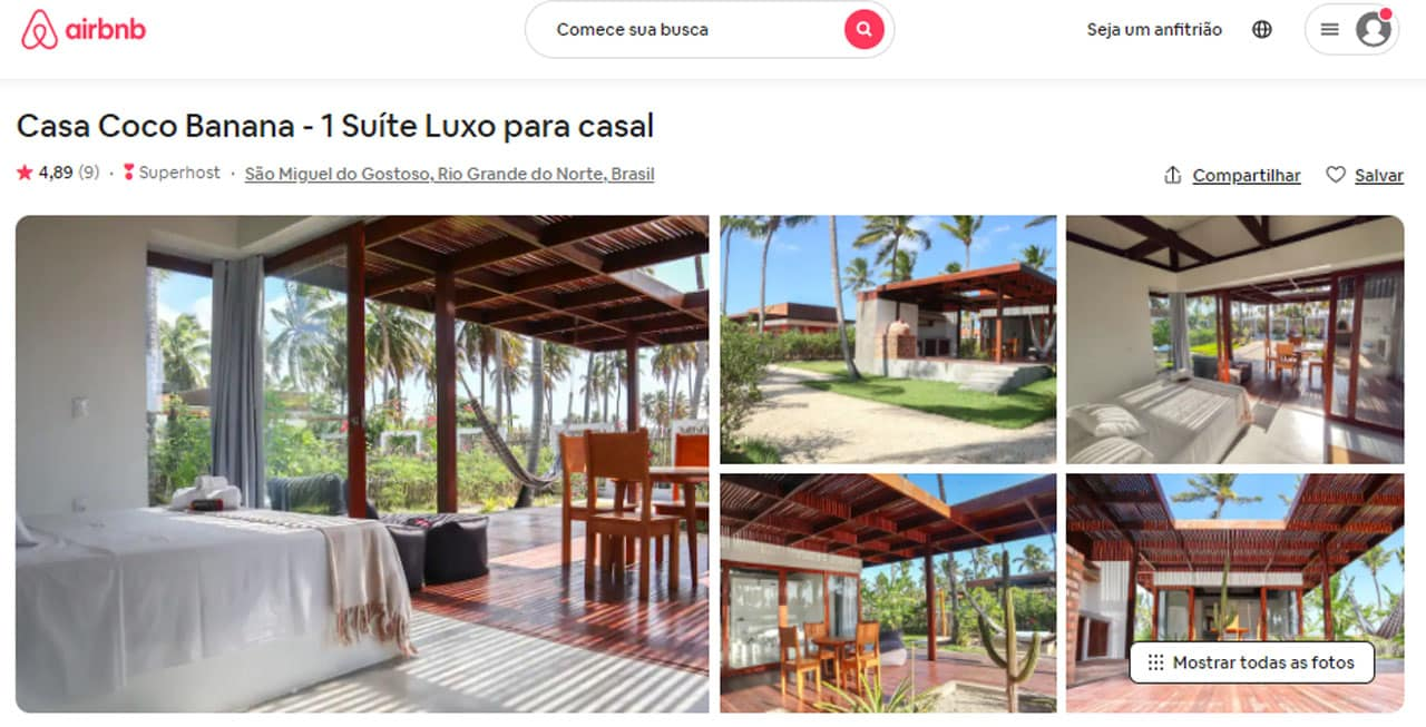airbnb são miguel do gostoso para casais