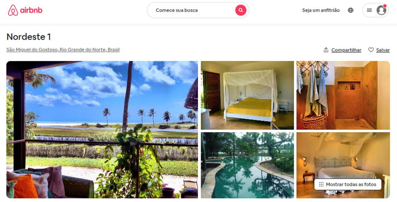 airbnb são miguel do gostoso esportes radicais