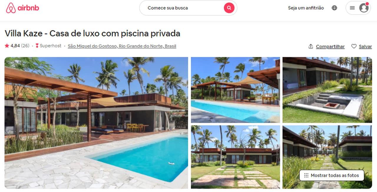 airbnb são miguel do gostoso casas de luxo