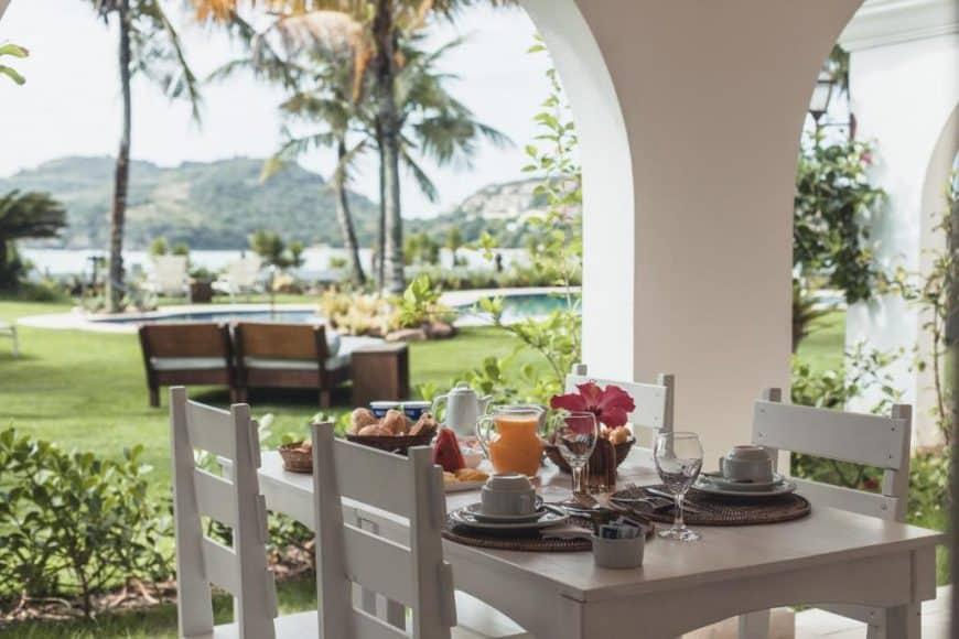 Café da manhã na Villa Raphael é especialmente bom