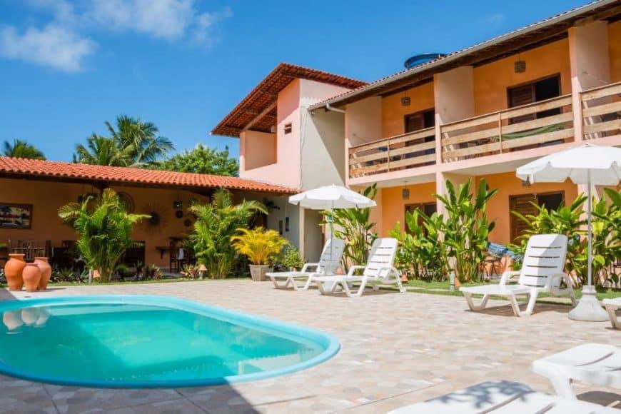 Pousada perto da praia em Milagres Alagoas